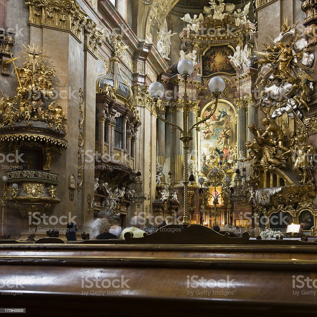 St. Peter's Church Interior royalty-free stock photo