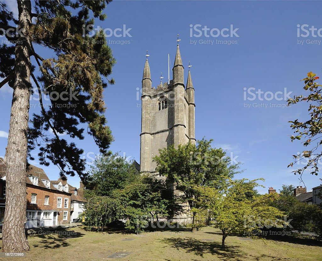 St Peter's Church Marlborough stock photo