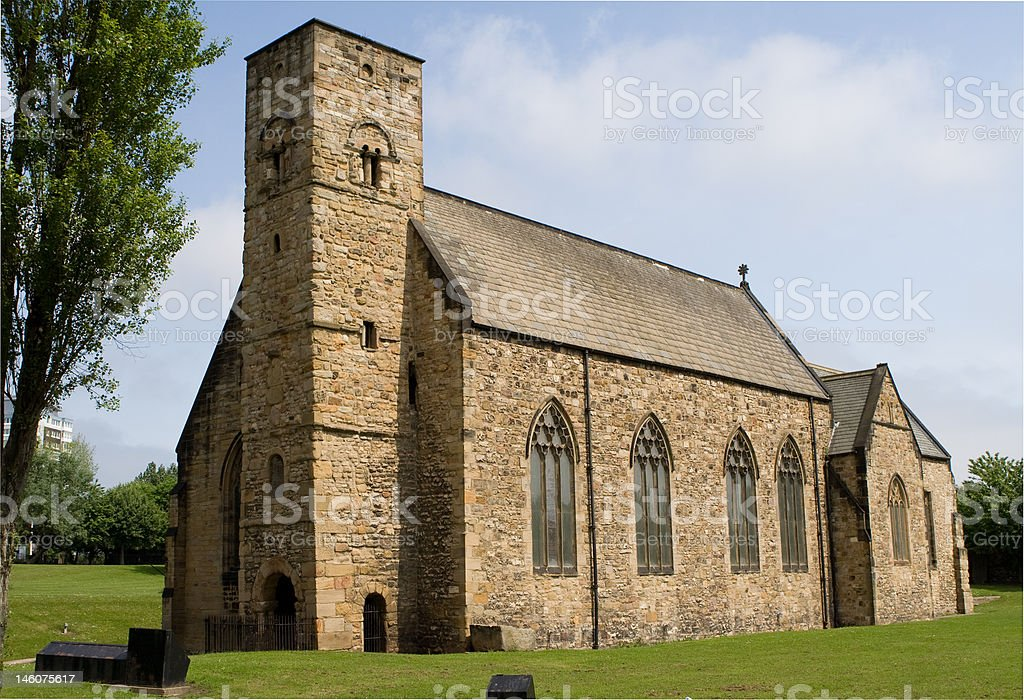 St Peter's Church, Sunderland. stock photo