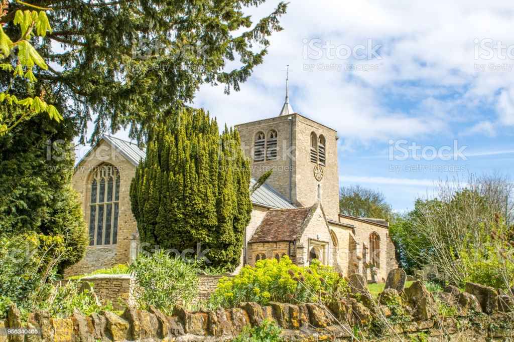 St Peter's Church, Thurleigh stock photo