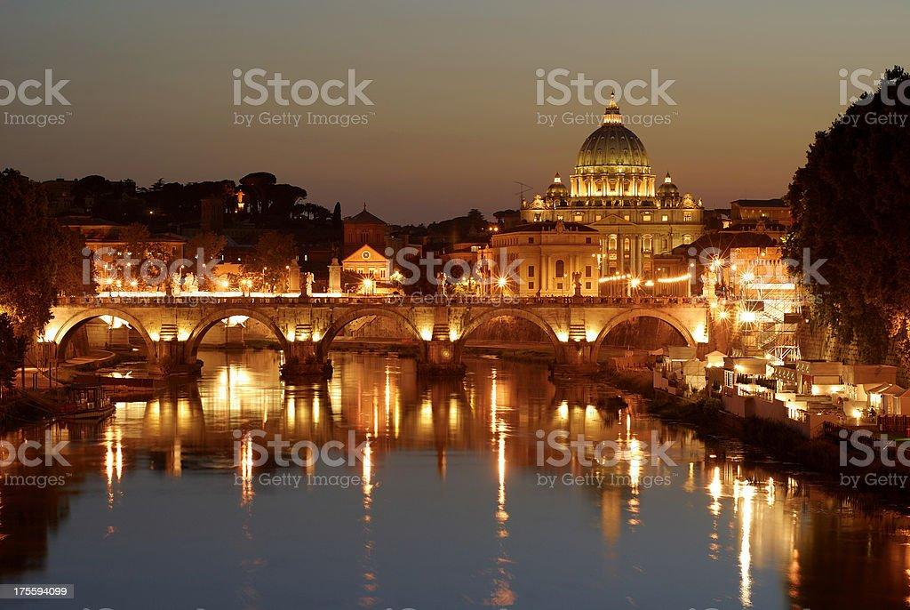 St. Peter's in the evening royalty-free stock photo