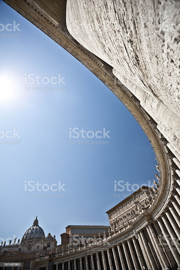 St. Peter's in Vatican royalty-free stock photo