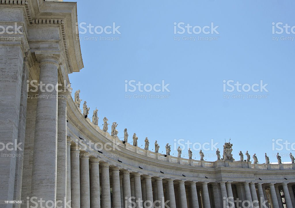 St Peters Square in Vatican royalty-free stock photo