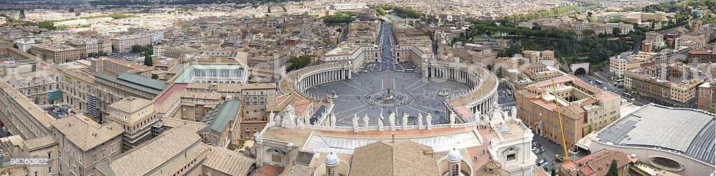 Piazza San Pietro foto stock royalty-free