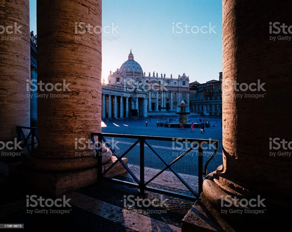 St Peter's Square, Rome royalty-free stock photo