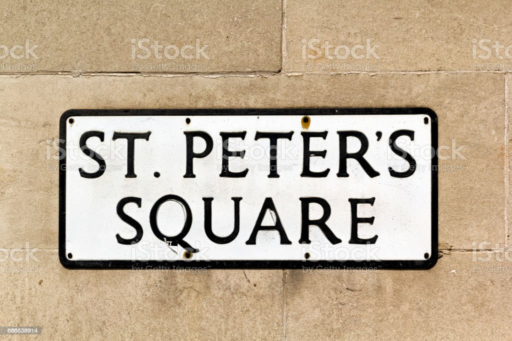 St Peters Square Sign foto stock royalty-free