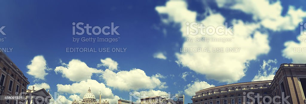 St. Peters square skyline in rome royalty-free stock photo