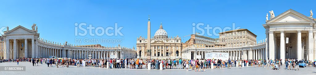 St. Peter's Square, Vatican stock photo