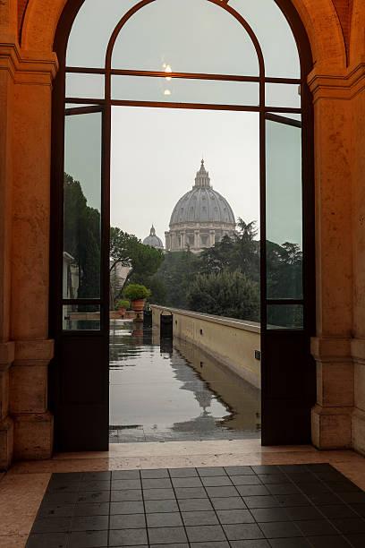 St. Peter's through a Portal stock photo