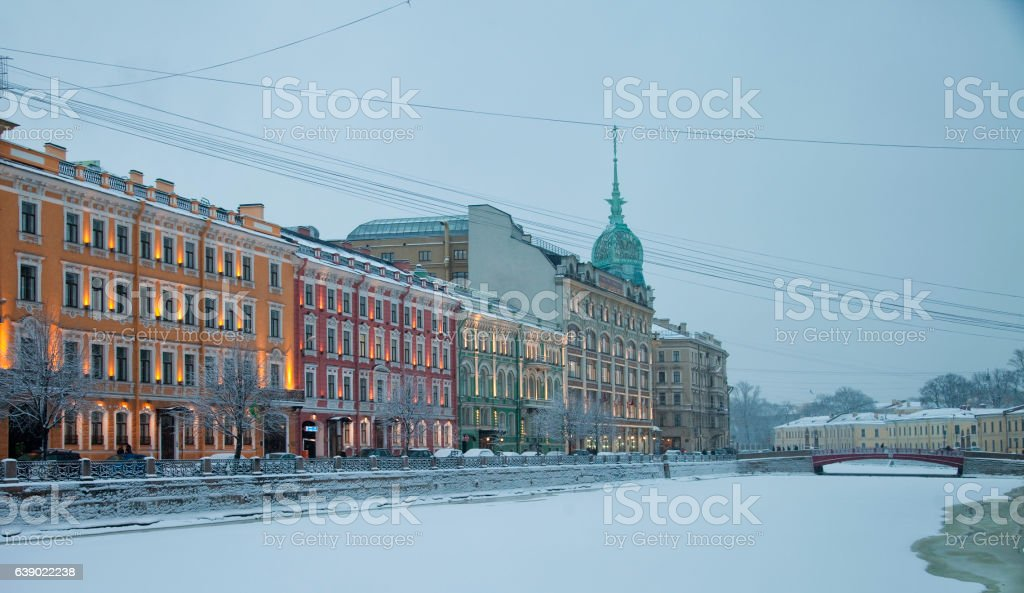 St. Petersburg at winter. Russia stock photo