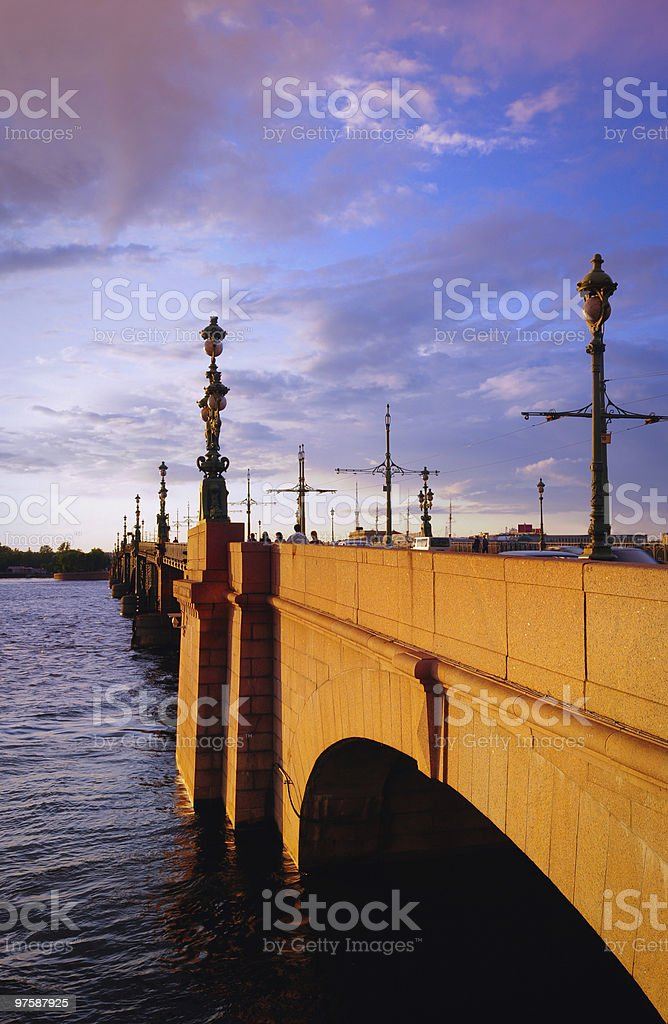 St. Petersburg, bridge royalty-free stock photo