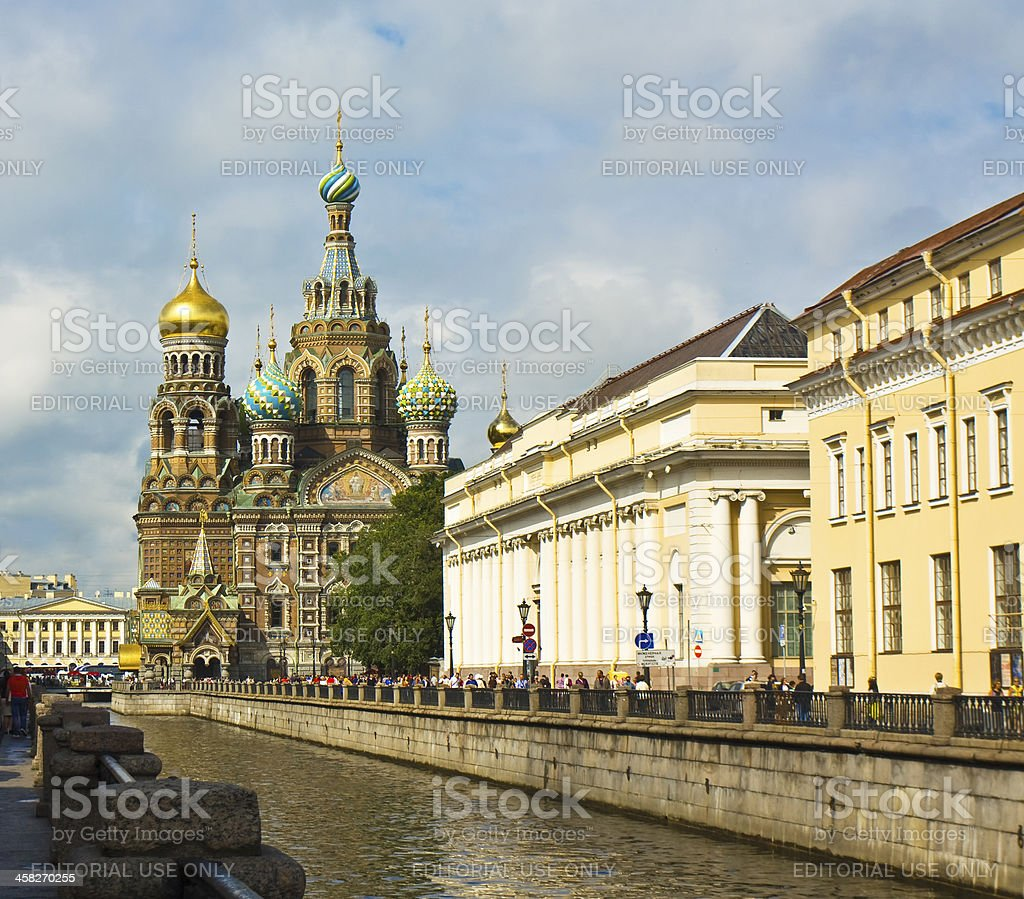 St. Petersburg, cathedral of  Resurrection Jesus Christ (Saviour on blood) royalty-free stock photo