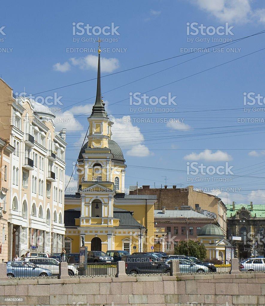 St. Petersburg, church of Anna Prophetess and Simeon royalty-free stock photo