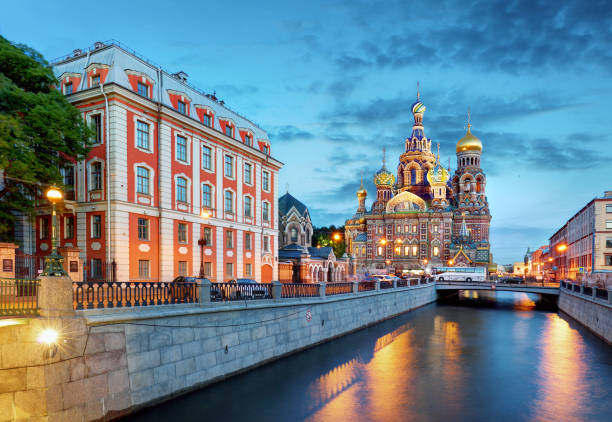 st. petersburg - church of the saviour on spilled blood, russia - russia stock pictures, royalty-free photos & images