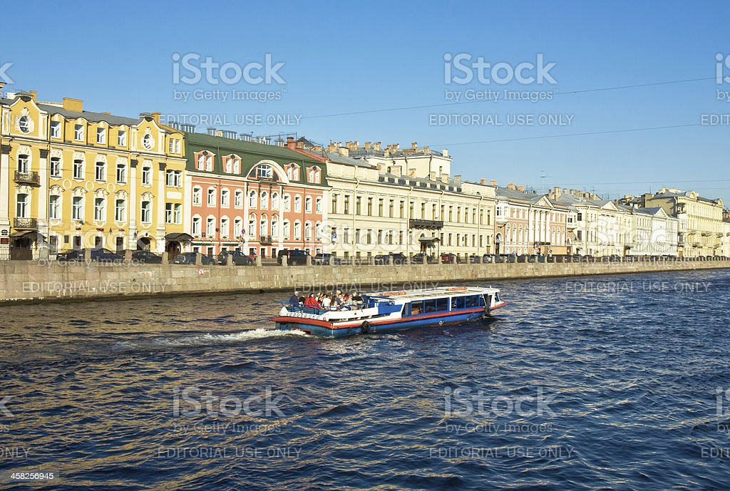 St. Petersburg, river Fontanka royalty-free stock photo