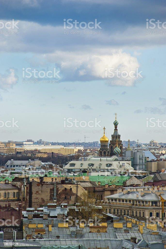 St. Petersburg Rooftops stock photo