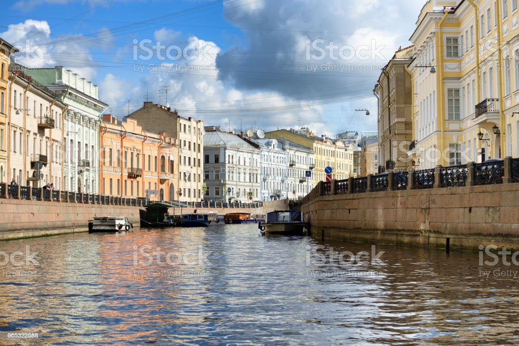 St Petersburg skyline from the sea zbiór zdjęć royalty-free