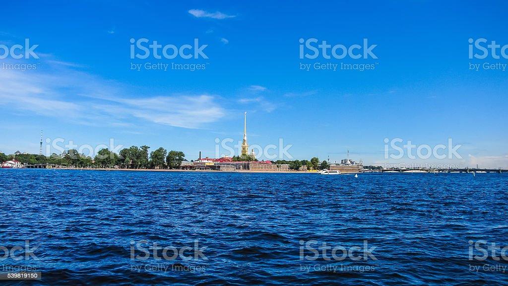 Санкт-Петербург. Вид Питер и Paul крепость стоковое фото