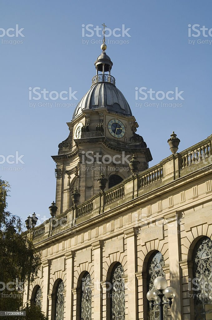 St Philips Cathedral Birmingham UK royalty-free stock photo