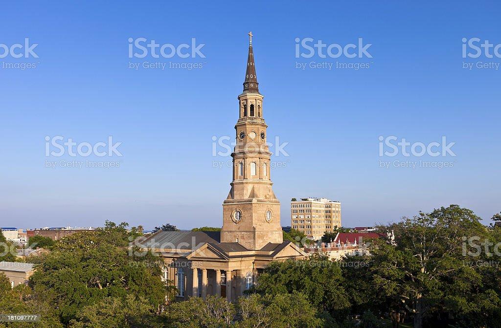 St. Philip's Episcopal Church In Charleston, South Carolina stock photo