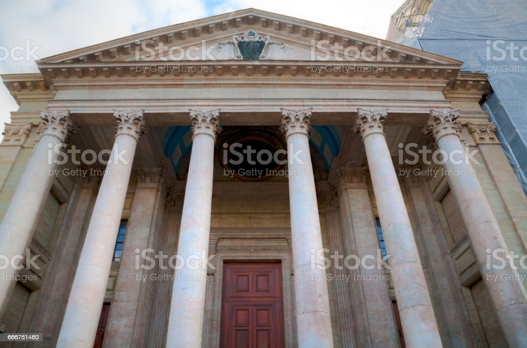 St Pierre Cathedral entrance in Geneva foto stock royalty-free