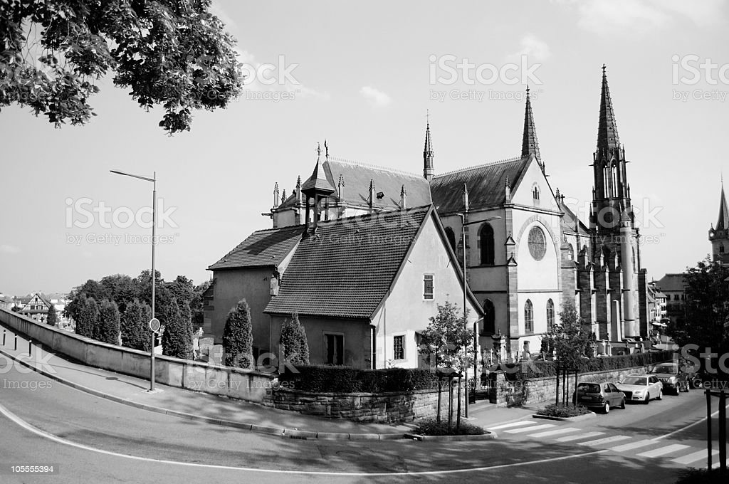 St. Pierre church, France stock photo