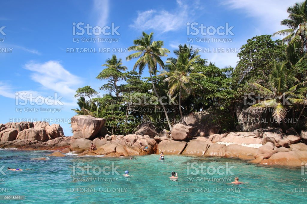 St Pierre Island Close Praslin Seychelles Indian Ocean