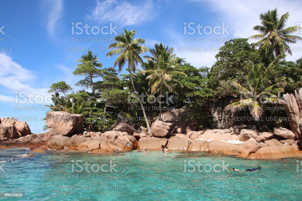 St Pierre Island Close Praslin Seychelles Indian Ocean