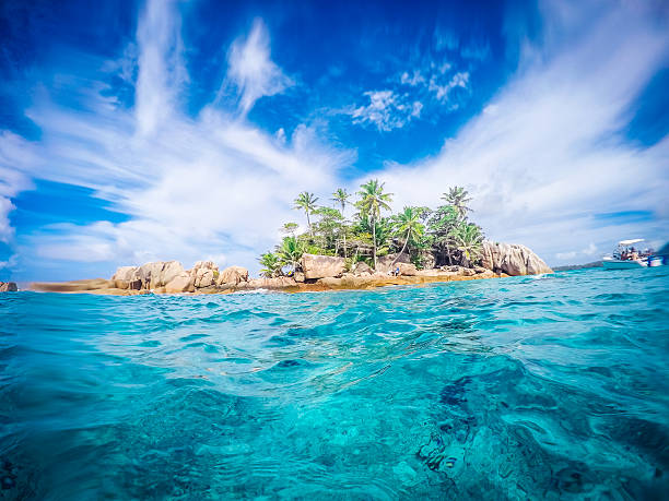 st pierre island - seychelles - desert island stock photos and pictures