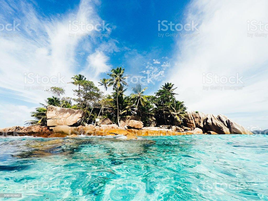 St Pierre Island - Seychelles stock photo