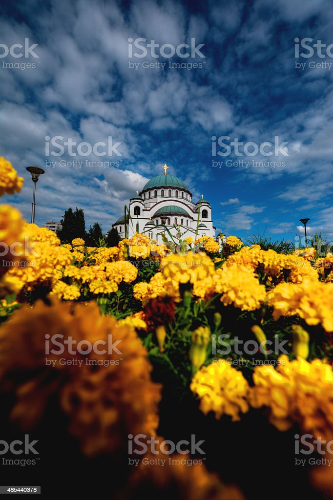 St. Sava Cathedral stock photo
