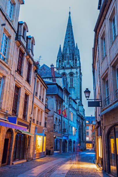 st saviour's church in caen - caen stock pictures, royalty-free photos & images