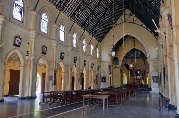 St. Sebastian's Church in Negombo stock photo