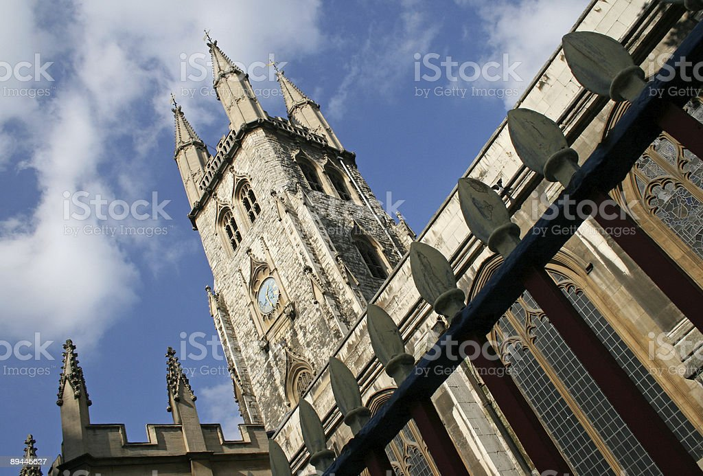 St Sepulture Church in London royalty-free stock photo