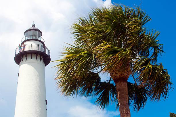 St Simons Island Lighthouse stock photo