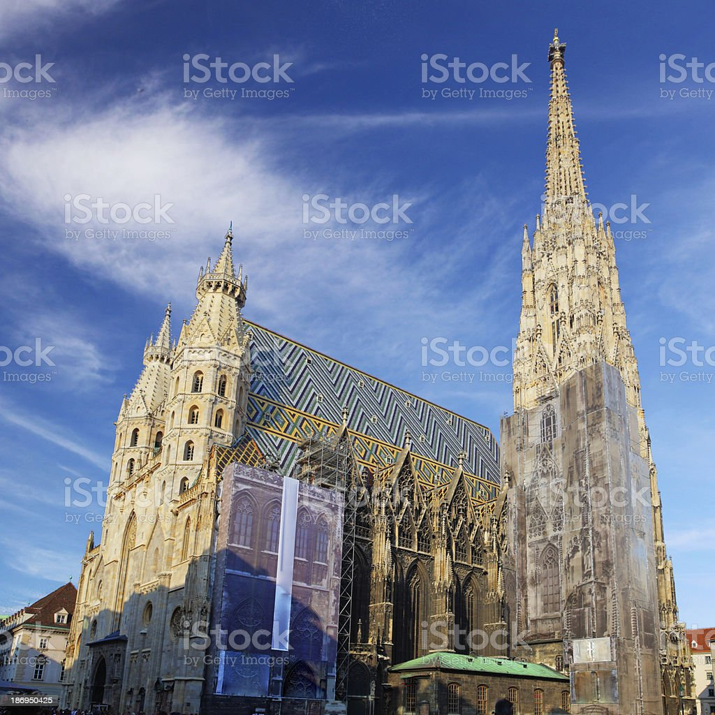 St. Stephan cathedral in Vienna, Austria stock photo