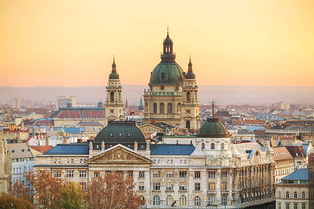 St Stephen (St Istvan) Basilica in Budapest stock photo