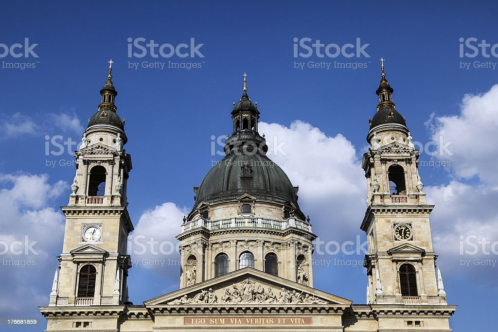 St. Stephen Basilica royalty-free stock photo