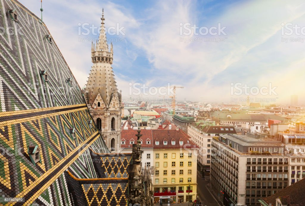 St. Stephen Cathedral in Vienna, Austria stock photo