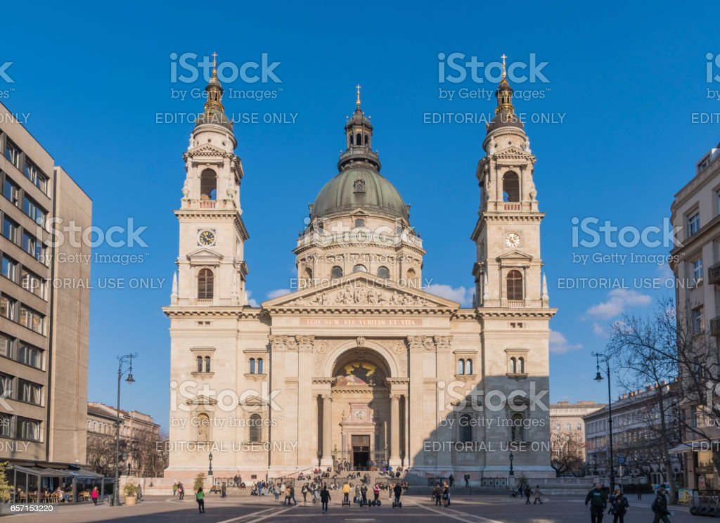 St. Stephen's Basilica in Budapest stock photo
