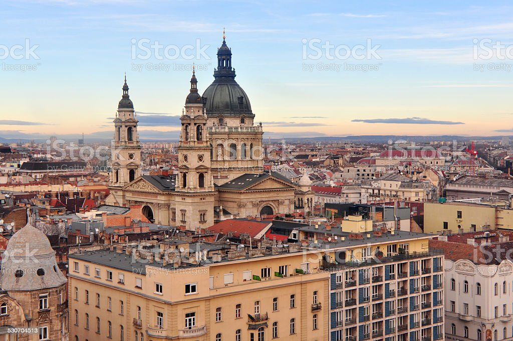St. Stephen's Cathedral in  Budapest, Hungary stock photo