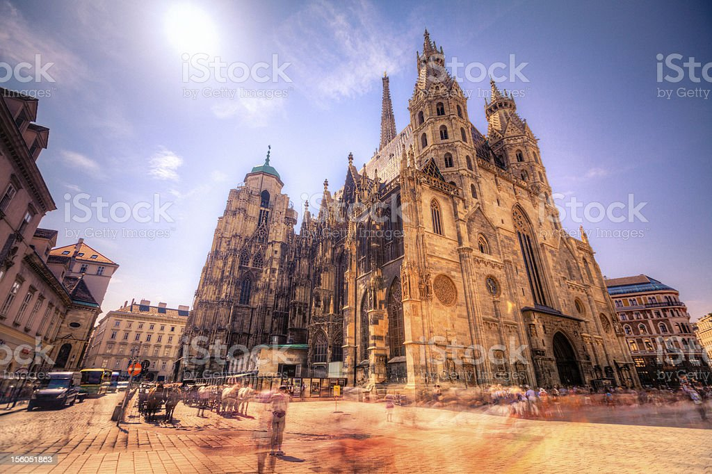 St Stephen's Cathedral in Vienna, Austria. stock photo