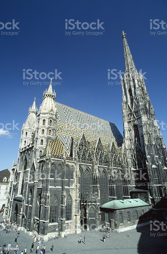 St Stephens Cathedral in Vienna Austria stock photo