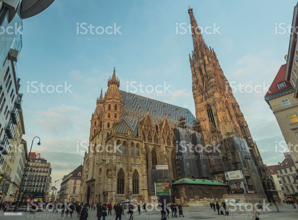 St Stephen's Cathedral in Vienna stock photo