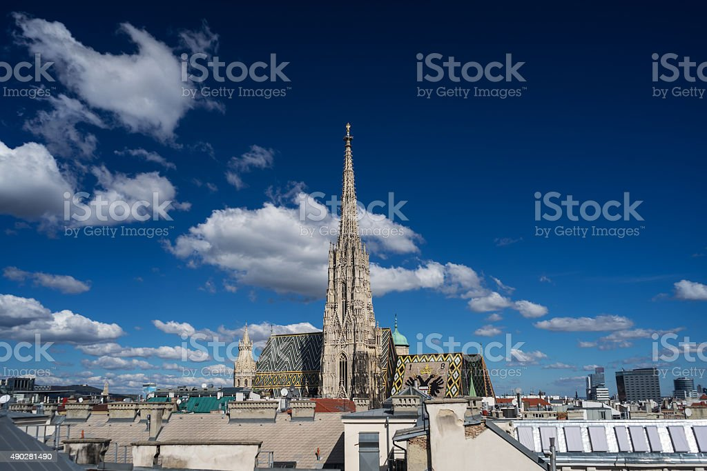 St. Stephens Cathedral Vienna stock photo
