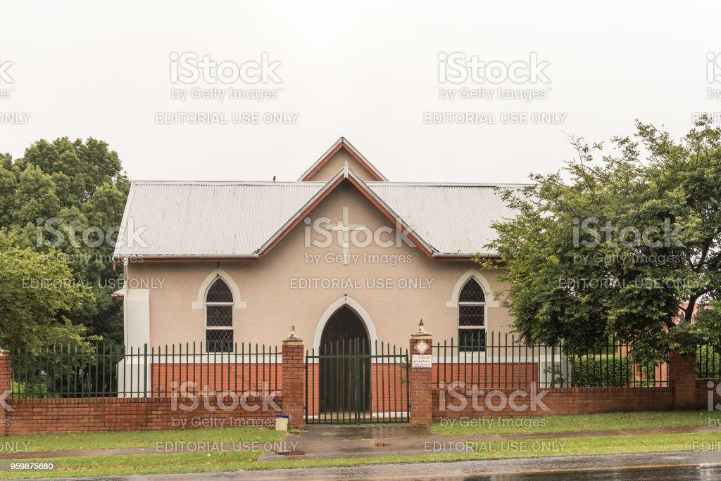 St Theodore Roman Catholic Church in Greytown stock photo