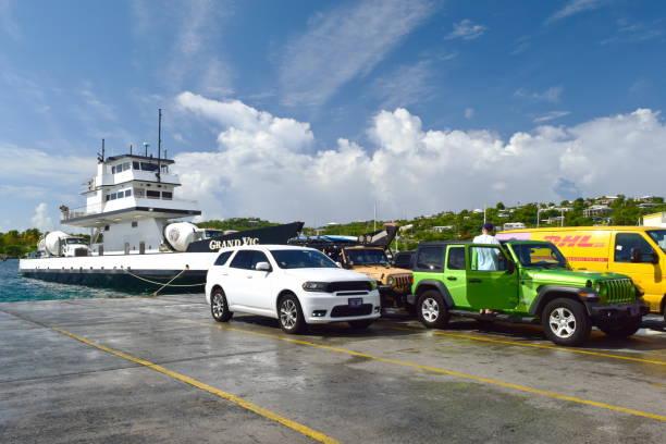 St. Thomas car ferry stock photo