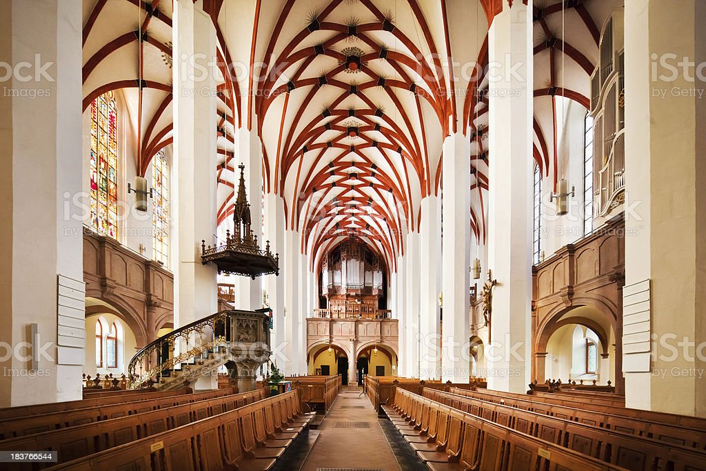 St. Thomas Church in Leipzig, Germany stock photo