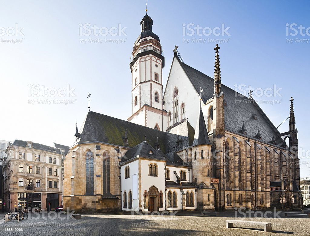 St. Thomas Church (Thomaskirche) in Leipzig, Germany stock photo