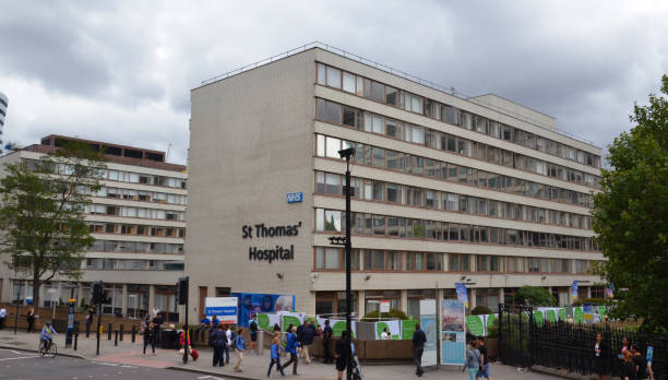 St. Thomas' Hospital, London stock photo